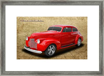 1940 Chevrolet Special Deluxe Framed Print by Frank J Benz