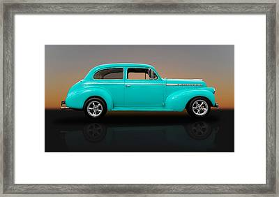 1940 Chevrolet Special Deluxe Sedan - V1 Framed Print by Frank J Benz