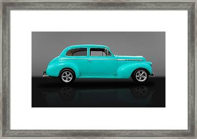 1940 Chevrolet Special Deluxe Sedan - V2 Framed Print by Frank J Benz
