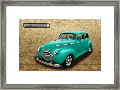 1940 Chevrolet Special Deluxe Sedan - V3 Framed Print by Frank J Benz