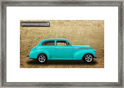 1940 Chevrolet Special Deluxe Sedan - V4 Framed Print by Frank J Benz