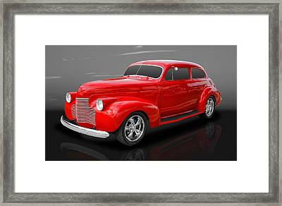 1940 Chevy Special Deluxe Framed Print by Frank J Benz