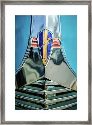 1940 Dodge Business Coupe Emblem Framed Print by Jill Reger