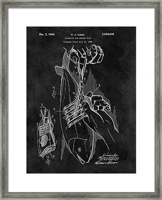 1940 Fishing Gear Patent Framed Print by Dan Sproul