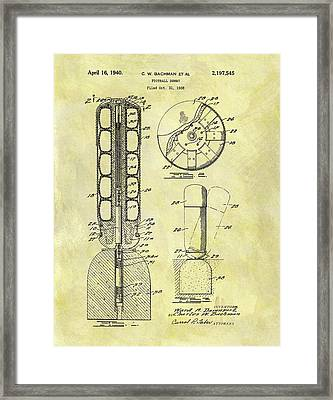 1940 Football Dummy Patent Framed Print by Dan Sproul