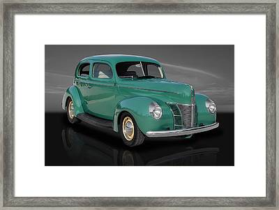 1940 Ford Deluxe Coupe Framed Print by Frank J Benz