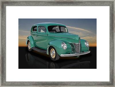 1940 Ford V8 Deluxe Coupe Framed Print by Frank J Benz