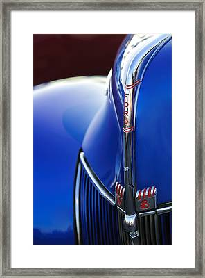 1940 Ford V8 Hood Ornament 3 Framed Print by Jill Reger