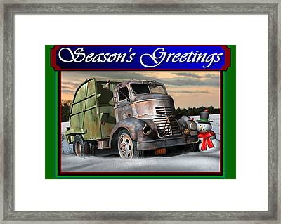 1940 Gmc Christmas Card Framed Print by Stuart Swartz