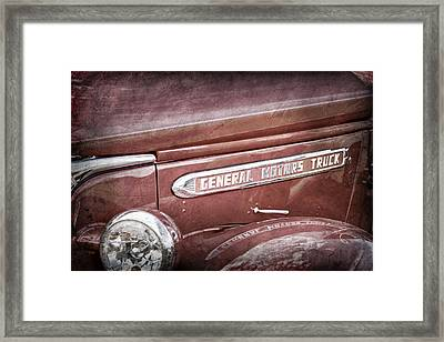 1940 Gmc General Motors Truck Emblem -0233ac Framed Print by Jill Reger