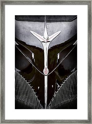 1940 Lincoln-zephyr Convertible Grille Emblem - Hood Ornament -0093ac Framed Print by Jill Reger
