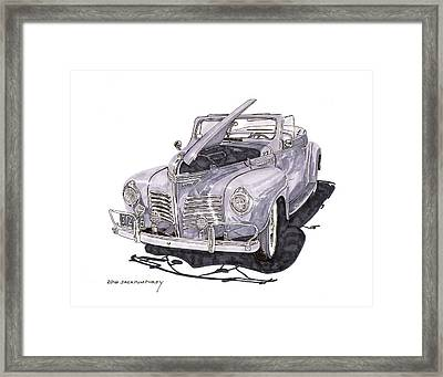 1940 Plymouth P 1 Convertible Framed Print by Jack Pumphrey