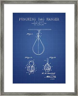 1940 Punching Bag Hanger Patent Spbx13_bp Framed Print