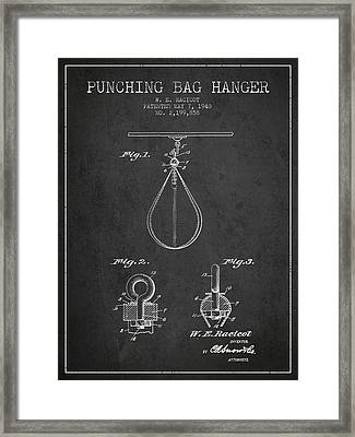 1940 Punching Bag Hanger Patent Spbx13_cg Framed Print by Aged Pixel