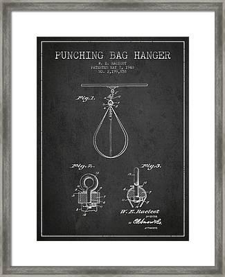 1940 Punching Bag Hanger Patent Spbx13_cg Framed Print