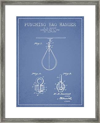 1940 Punching Bag Hanger Patent Spbx13_lb Framed Print by Aged Pixel