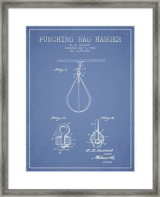 1940 Punching Bag Hanger Patent Spbx13_lb Framed Print