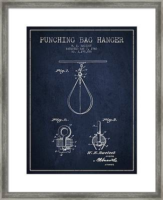 1940 Punching Bag Hanger Patent Spbx13_nb Framed Print