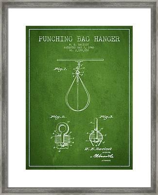 1940 Punching Bag Hanger Patent Spbx13_pg Framed Print by Aged Pixel