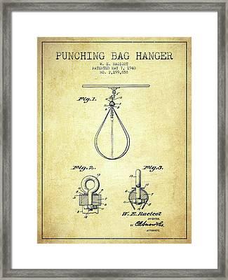 1940 Punching Bag Hanger Patent Spbx13_vn Framed Print by Aged Pixel