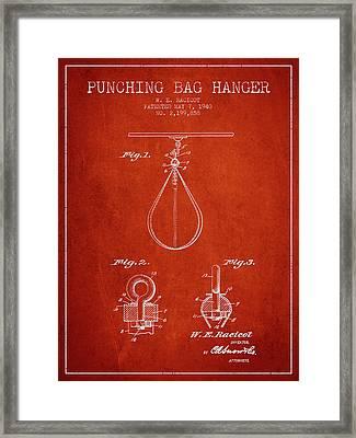 1940 Punching Bag Hanger Patent Spbx13_vr Framed Print