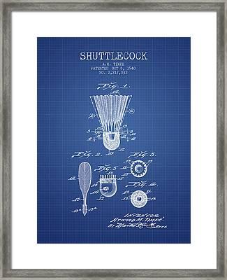 1940 Shuttelcock Patent Spbm03_bp Framed Print by Aged Pixel