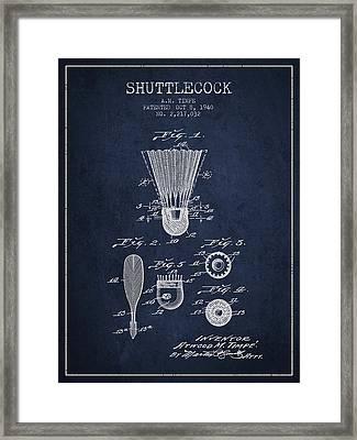 1940 Shuttelcock Patent Spbm03_nb Framed Print by Aged Pixel