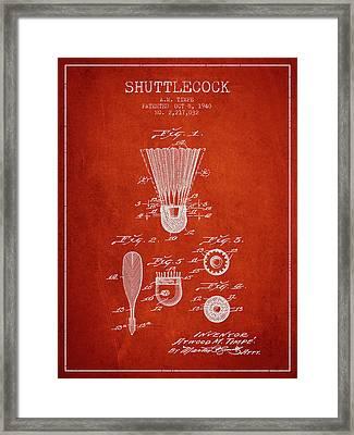 1940 Shuttelcock Patent Spbm03_vr Framed Print by Aged Pixel