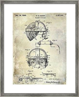 1940 Welders Goggles Framed Print