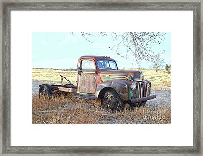1940s Ford Farm Truck Framed Print