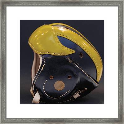 Framed Print featuring the photograph 1940s Leather Wolverine Helmet by Michigan Helmet