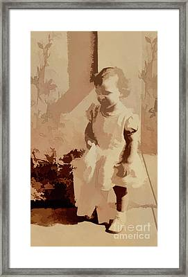 Framed Print featuring the photograph 1940s Little Girl by Linda Phelps