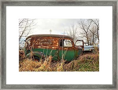 1940s Panel Truck Framed Print