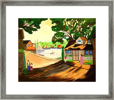 1940s Smith Cove From Rocky Neck Gloucester Ma Framed Print by Bill Hubbard