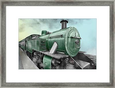 1940's Steam Train Framed Print by Marty Garland