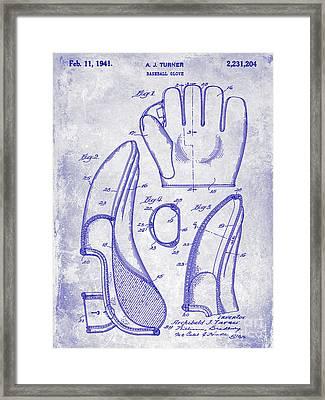1941 Baseball Glove Patent Blueprint Framed Print