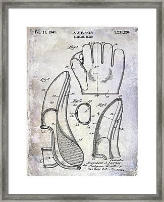 1941 Baseball Glove Patent Framed Print