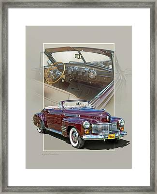 1941 Cadillac 62 Convertible Coupe Framed Print by Roger Beltz