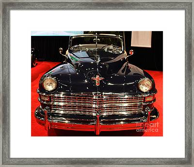 1941 Cadillac Series 62 Convertible Coupe . Front View Framed Print by Wingsdomain Art and Photography
