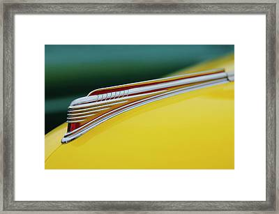 1941 Chevrolet Sedan Hood Ornament Framed Print by Jill Reger