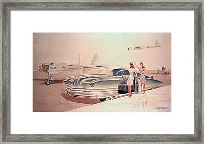 1941 Chrysler Concept Styling Rendering Gil Spear Framed Print