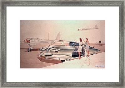 1941 Chrysler Concept Styling Rendering Gil Spear Framed Print by ArtFindsUSA