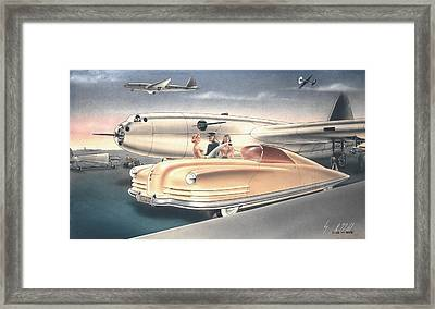 1941 Chrysler Styling Concept Rendering Gil Spear Framed Print by ArtFindsUSA