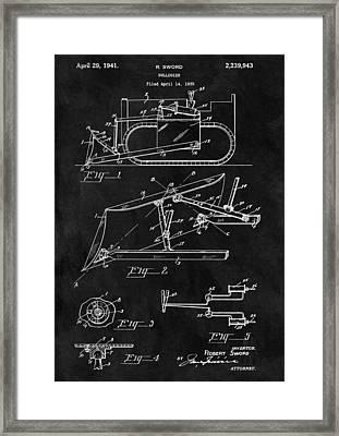 1941 Construction Bulldozer Framed Print by Dan Sproul