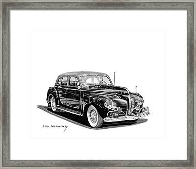 Framed Print featuring the painting 1941 Dodge Town Sedan by Jack Pumphrey