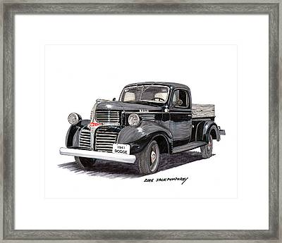 1941 Dodge W C Half Ton Pick Up Framed Print by Jack Pumphrey