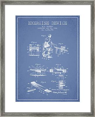 1941 Exercise Device Patent Spbb10_lb Framed Print by Aged Pixel