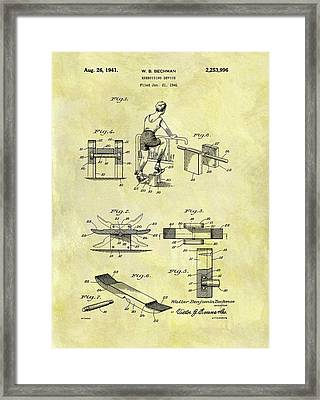 1941 Exercise Machine Patent Framed Print