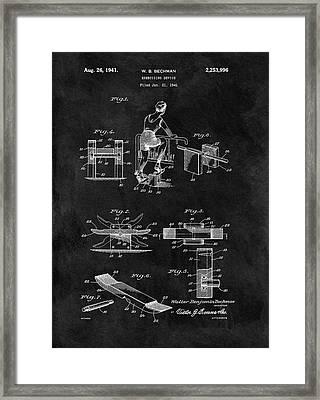 1941 Exercising Apparatus Patent Framed Print