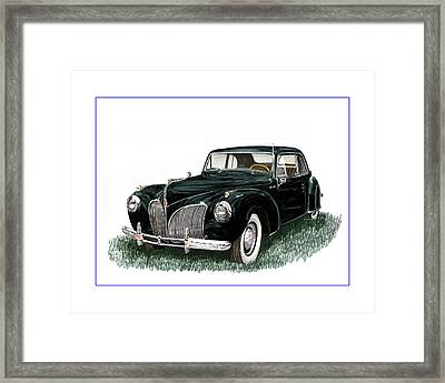 1941 Lincoln Continental Mk 1 Framed Print by Jack Pumphrey